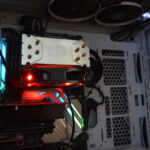 Inside a PC with LED illumination